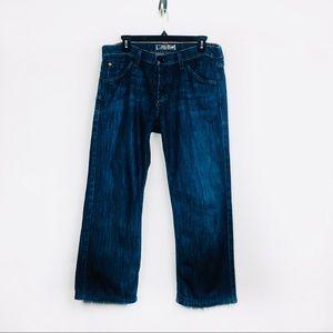 Hudson Jeans Dark Blue Wash Crop Relaxed size 33